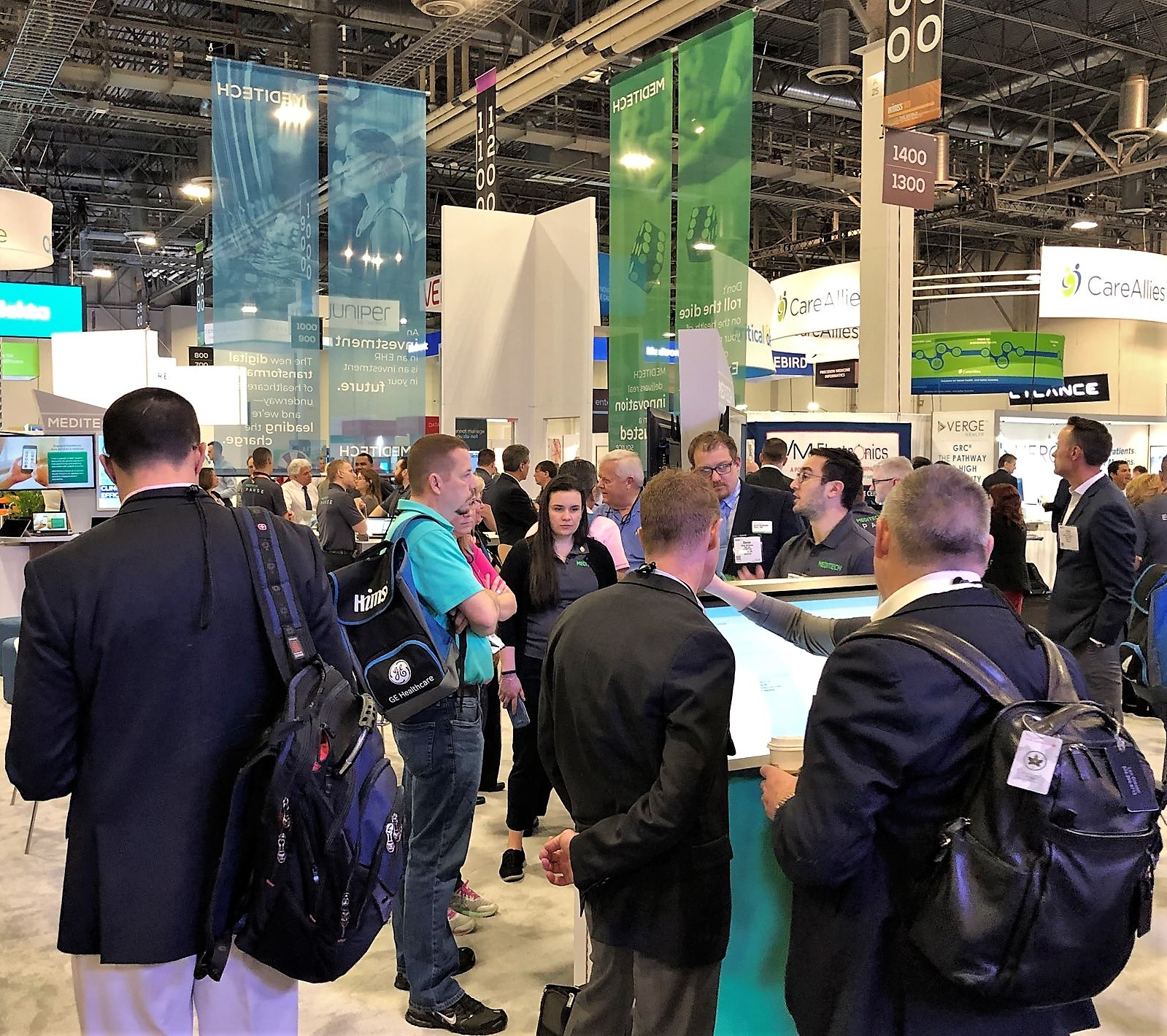 Attendees visiting the MEDITECH booth during HIMSS18 in Las Vegas in March.