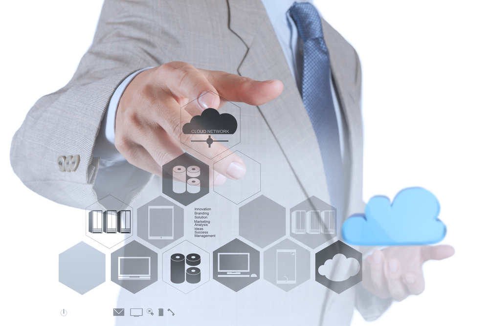 businessman hand showing about cloud network idea concept-1